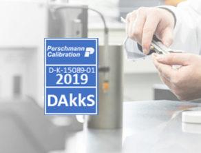 Perschmann Calibration DAkkS-Plakette