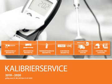Perschmann Calibration Kalibrierkatalog 2019-2020 Kalibrierservice