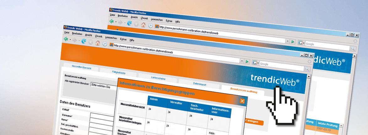 trendicWeb® webbasierte Messmittelverwaltungssoftware von Perschmann Calibration